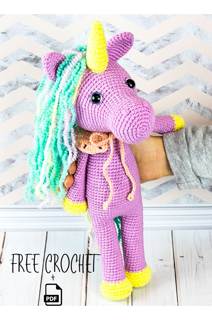 Free Crochet Pattern for Twinkle the Unicorn ⋆ Crochet Kingdom | 1106x735